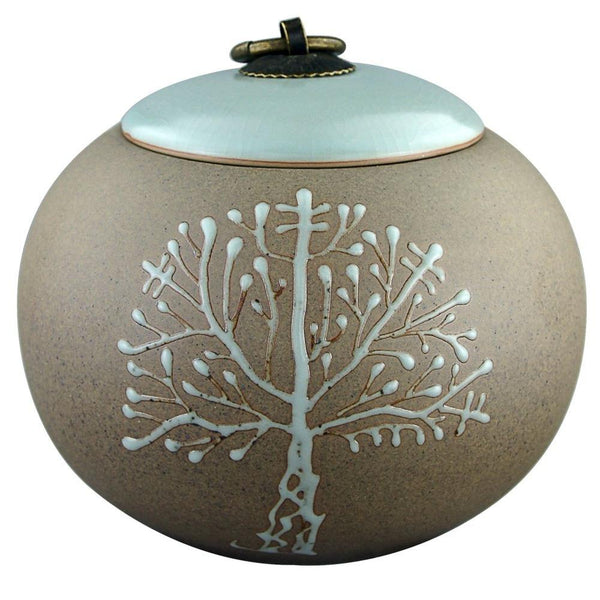 "5"" Hand-painted Tree of Life Cremation Urn for Pets"