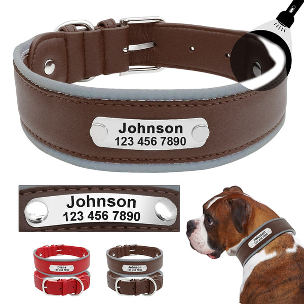 Leather ID Collars
