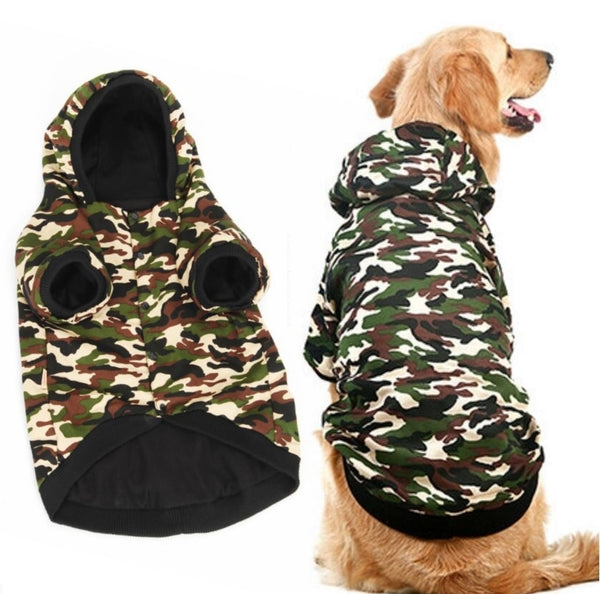 Very Large Dog Warm Camo Hoodie 3XL-7XL
