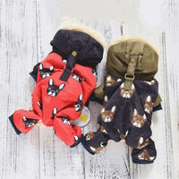 Warm Polyester & Fleece Hooded Jumpsuit XS-XXL