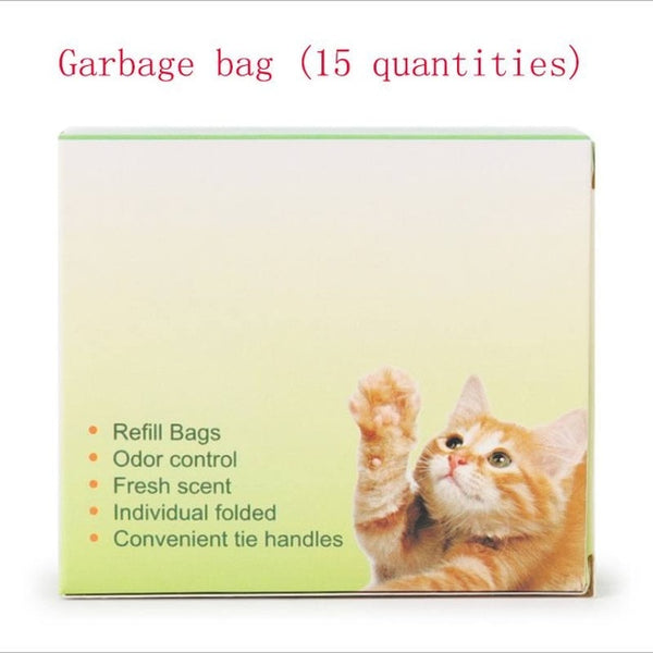 Integrated Litter Box Shovel and/or Waste Bags