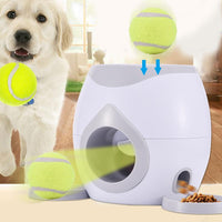 Automatic Fetch Ball Treat Reward Machine with Tennis Ball