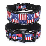 Reflective Padded Nylon Collar for Medium Large Dogs 5cm Width
