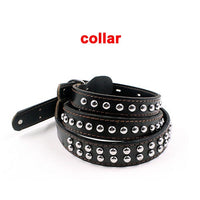Heavy Duty Large Leather Dog Collar and Leash Set