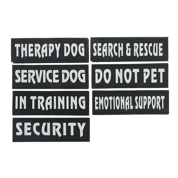 Iron On Service Dog Vest/Harness Patches