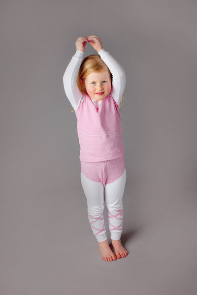 buy ballerina pajamas, ballerina pyjamas, organic cotton children's pajamas, fun kids pajamas, kids dress up pajamas, pyjamas
