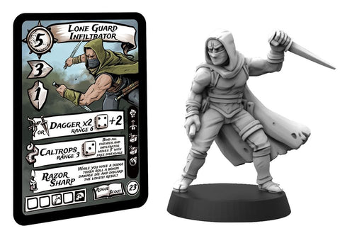Lone Guard Infiltrator character card and digital sculpt