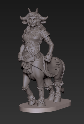 Female Centaur work in progress