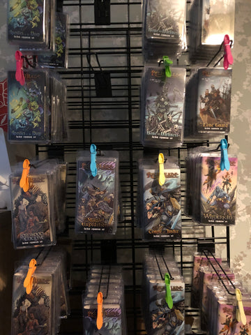 Relicblade factions on the display rack