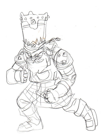 Early Chaos Dwarf concept art