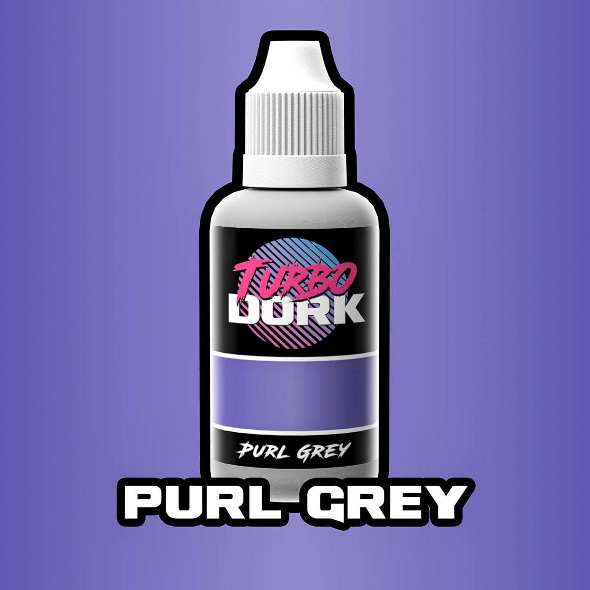 Turbo Dork 20ml Bottle Purl Grey Metallic Acrylic Paint