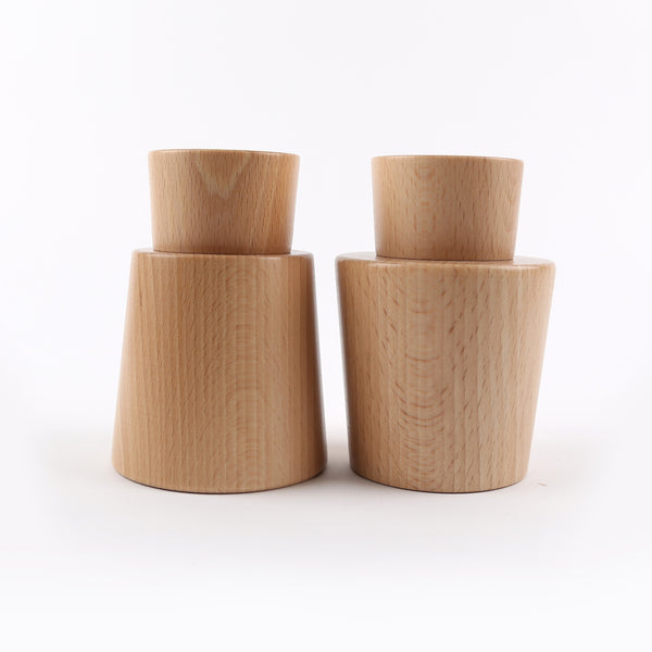 Beech Wood Salt + Pepper Mills