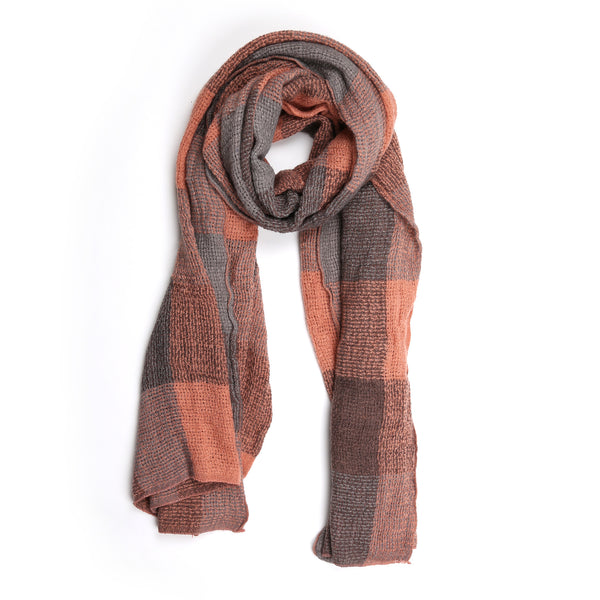 Check Scarf, Pink/Grey