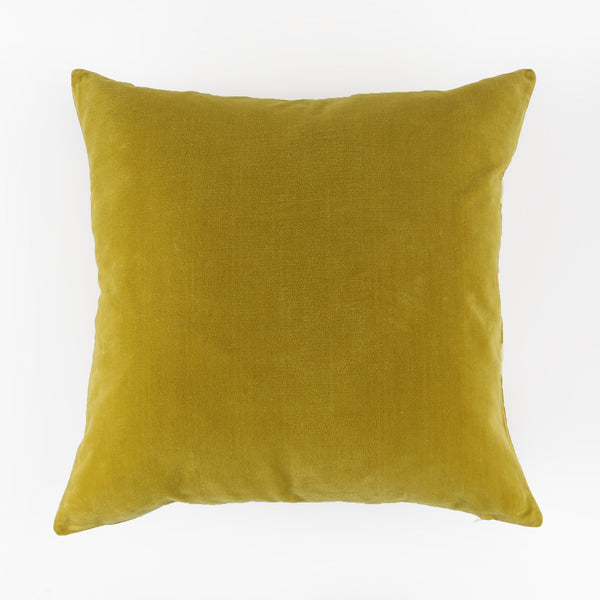 Velvet Pillow - Citron