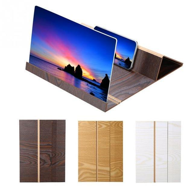 12 inch wooden Mobile Video Screen Magnifier High Definition Mobile Phone Screen Amplifier