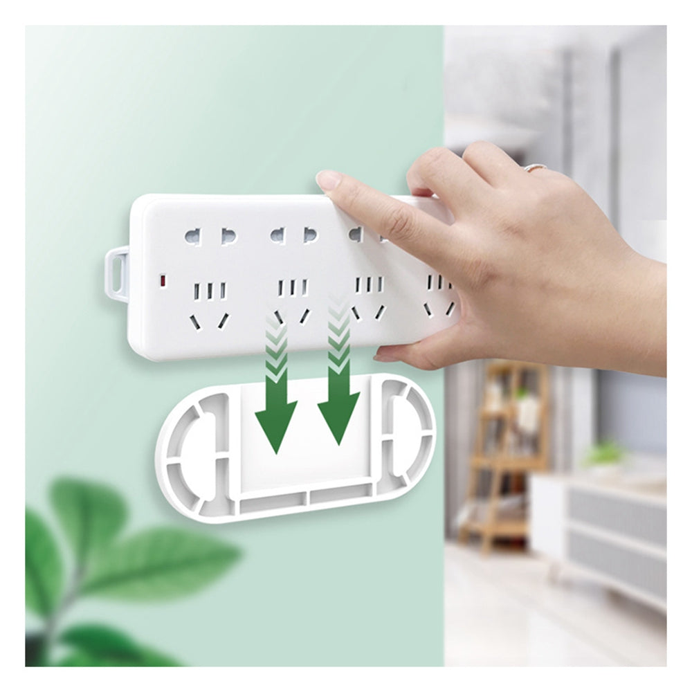 Seamless sticker wall holder power board / socket / storage wall rack charging stand