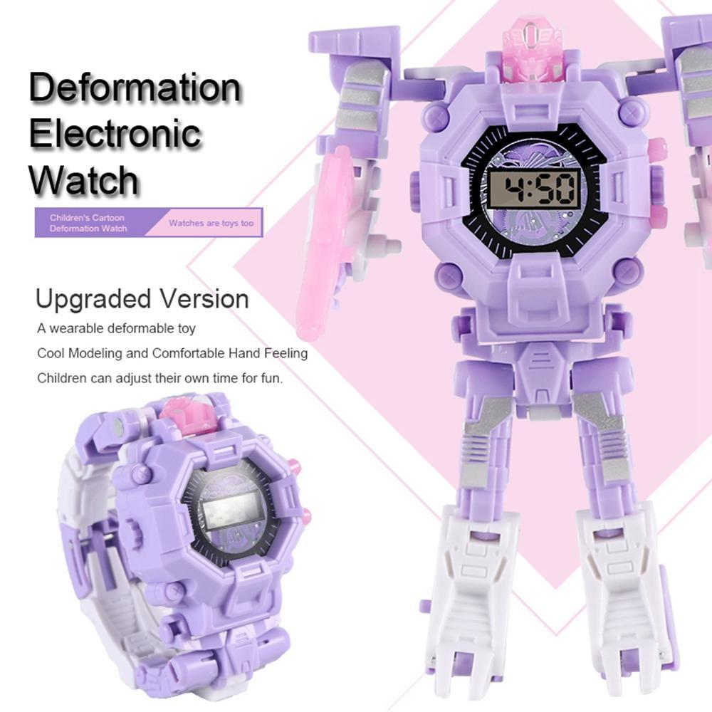2 In 1 Projection Deformation Robot Watch