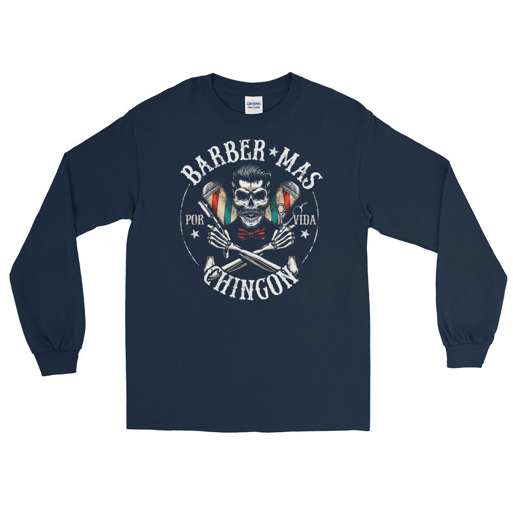 Barber Mas Chingon OG Long Sleeve T-Shirt