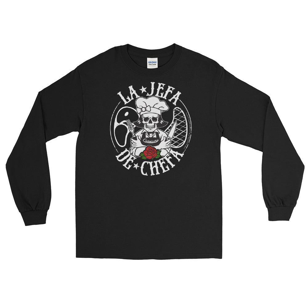 La Jefa De Chefa OG Chingona Long Sleeve T-Shirt