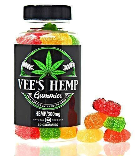 Premium Hemp Gummies- 10 mg Gummy Bear -Full Spectrum Hemp Infused -Great Taste - Non GMO -Organic - USA Made - Natural Relief for Sleep Insomnia Anxiety Pain Inflammation Depression and Nausea 30 ct.