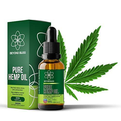 Beyond Bliss Hemp Oil Drops :: Fast Pain Relief :: Anxiety / Stress Relief Supplement :: Natural Extract :: Organic :: 250 :: Anti-Inflammatory :: MCT Rich