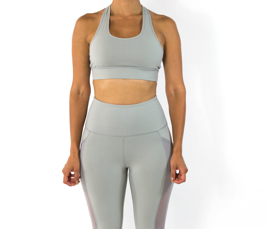 Women's Serene Sport Bra - Light Grey