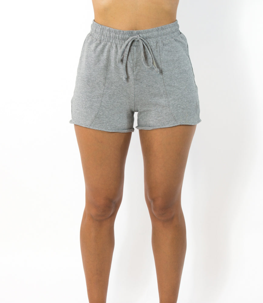 Women's Lounge Wear OVERLAP Short - Light Grey