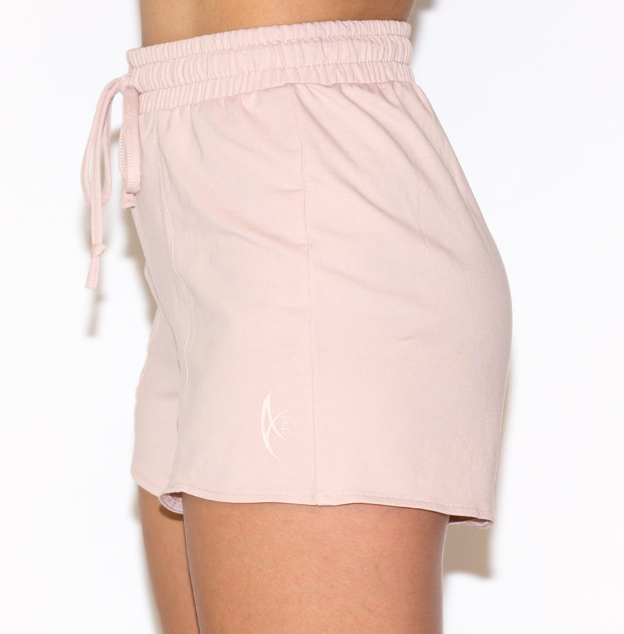 Women's Lounge Wear OVERLAP Short - Nude Pink