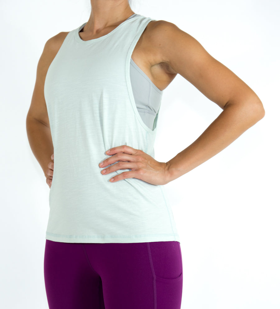 Women's Flow Top - Light Matcha Green