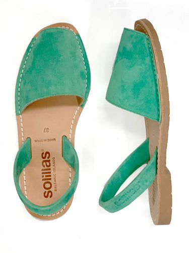 Green suede Solillas sandal - UK 4 / EU 37