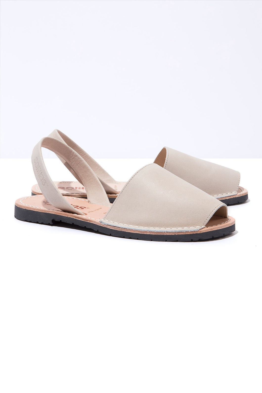 Cream Nubuck Solillas Sandals - Size 10