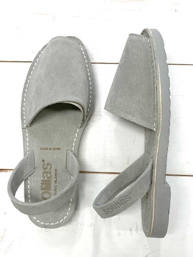 Grey Mono Suede Solillas Sandals - Size 4