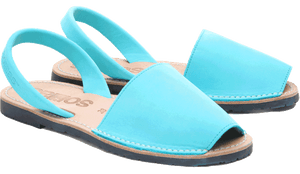 Turquoise Nubuck Solillas Sandals - Size 7
