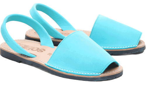 Turquoise Nubuck Solillas Sandals - Size 5