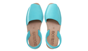 Turquoise Nubuck Solillas Sandals - Size 9