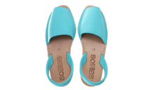 Load image into Gallery viewer, Turquoise Nubuck Solillas Sandals - Size 10