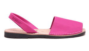 Pink Nubuck Solillas Sandals - Size 10