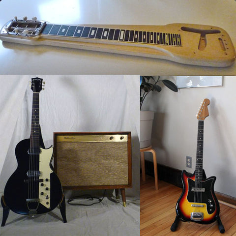 Compilation image of guitars JT flipped