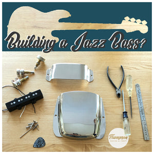 Jazz Bass Bridge and Pickup Cover Kit Chrome