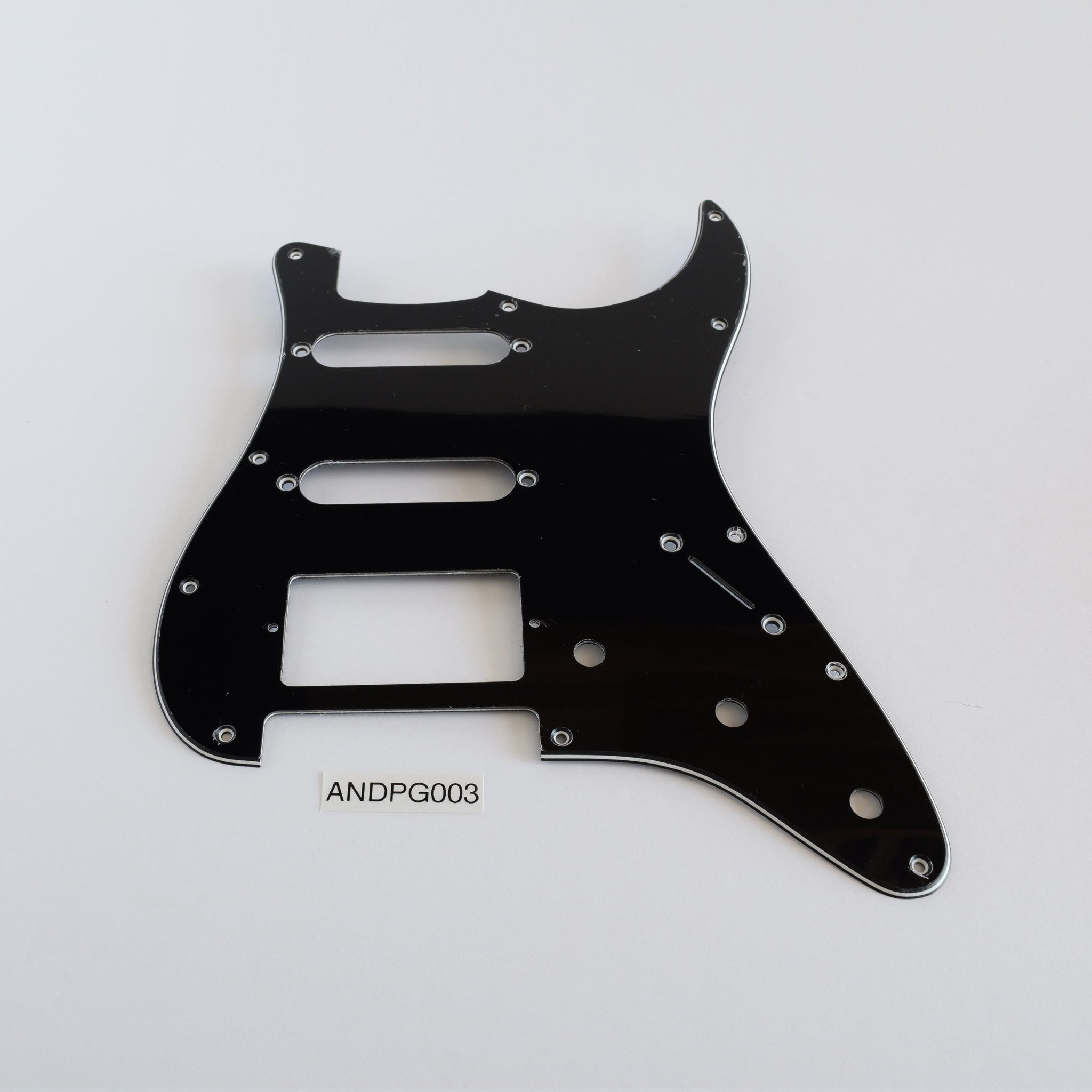 Black Strat SSH Pickguard 3-Knob 11-Screw 3-Ply (NOS) (Blemished)
