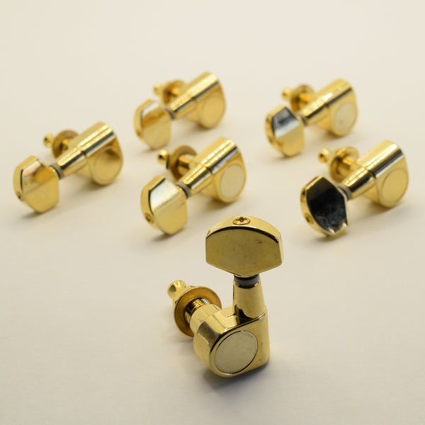 6L Gold Proline LEFT HAND Screwless Tuners Set of 6 (NOS) (Blemished)