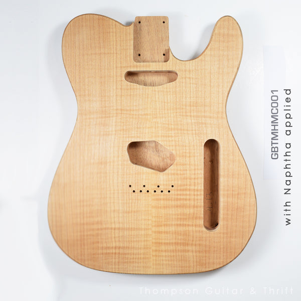 Tele Style Mahogany with Maple Cap 001