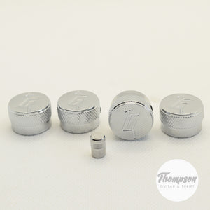 Set of 4 G-Style chrom knobs and chrome switch tip