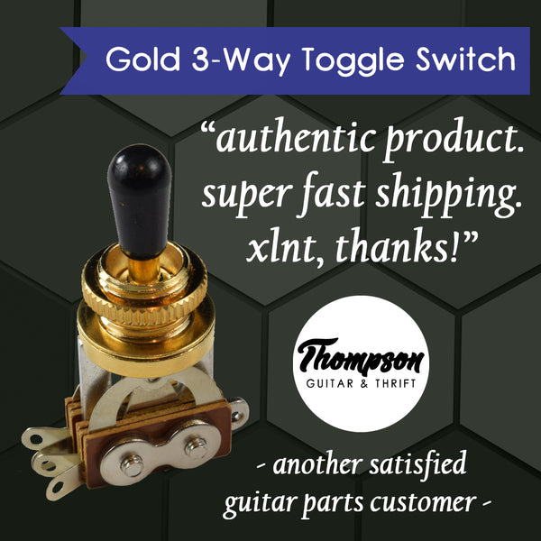 Gold 3-Way Toggle Switch