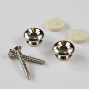TG&T Nickel Beveled Strap Button Set of 2