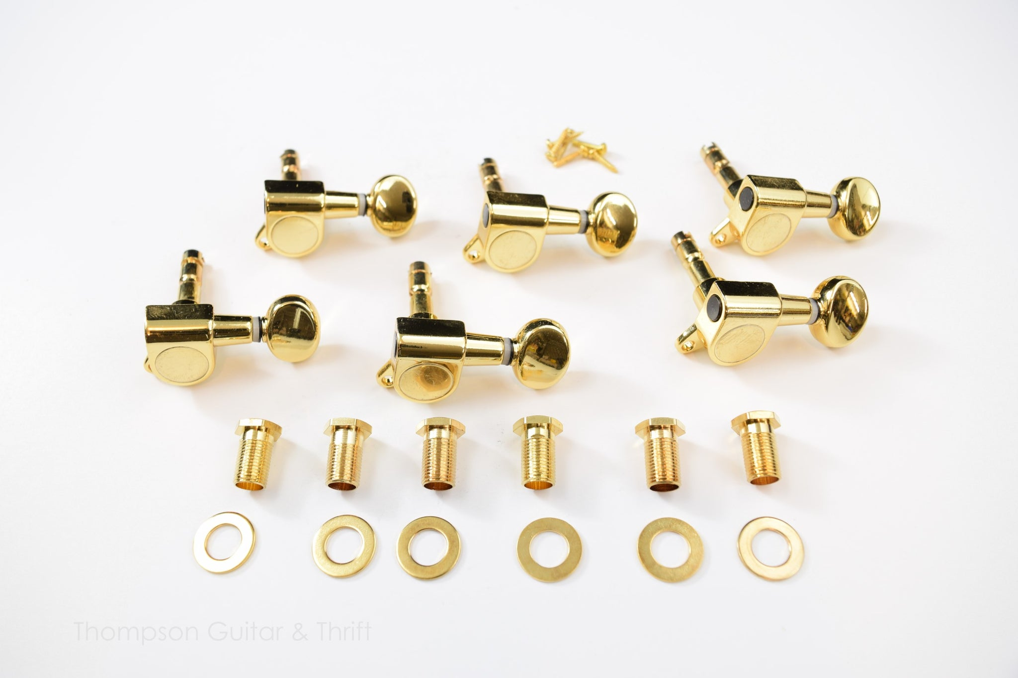 6 in line Gold Proline Locking Tuners Set of 6