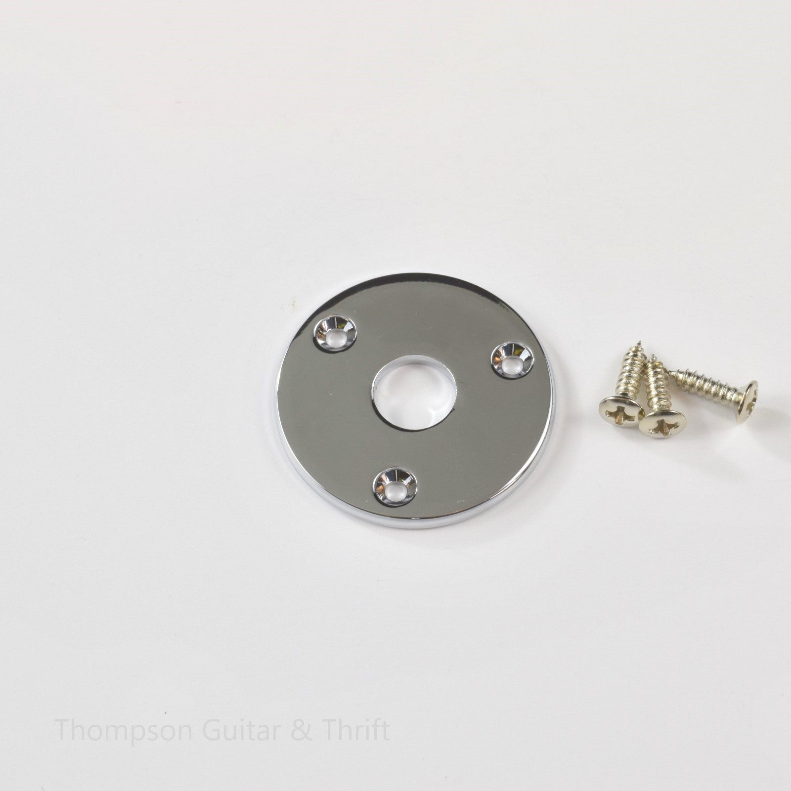 Chrome Jack Plate Flat Round Body Mount