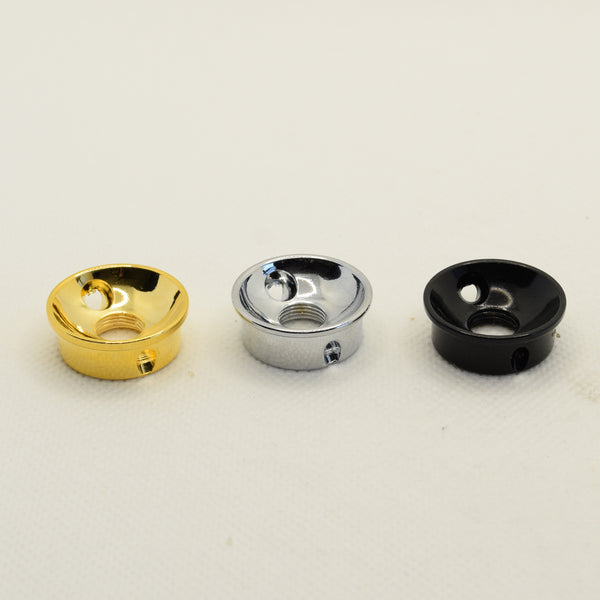 Cup-Style Input Jack Plate in Chrome, Black and Gold