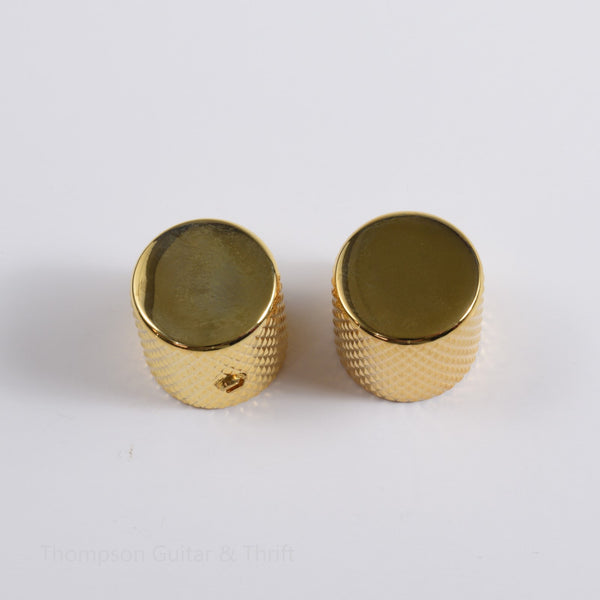 Set of 2 Gold Flat Top Tele Knobs