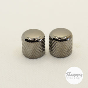 Black Nickel Knurled Barrel Knobs, Set of 2